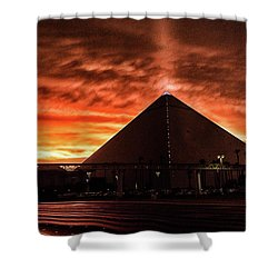Shower Curtain featuring the photograph Luxor Las Vegas by Michael Rogers