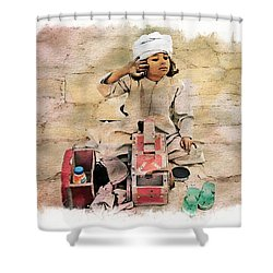 Luxor Shoeshine Girl Shower Curtain