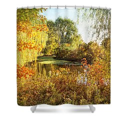 Shower Curtain featuring the photograph Luxurious Autumn by Kathi Mirto