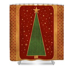 Luxurious Christmas Card Shower Curtain by Aimelle