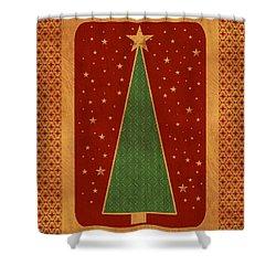 Luxurious Christmas Card Shower Curtain