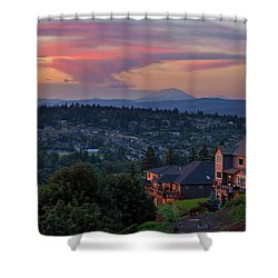 Luxury Homes In Happy Valley Oregon Shower Curtain by David Gn