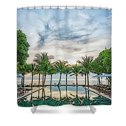 Shower Curtain featuring the photograph Luxury Pool In Paradise by Antony McAulay