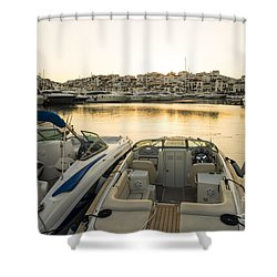 Luxury Yachts Puerto Banus Shower Curtain by Perry Van Munster