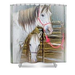 Lvha_ Digital Art Painting #1 Shower Curtain