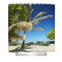 Lydgate Beach On Kauai Shower Curtain by Kicka Witte - Printscapes
