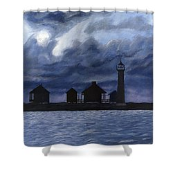Lydia Ann Lighthouse Shower Curtain