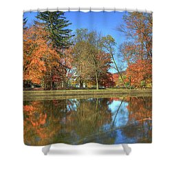 Shower Curtain featuring the photograph Lykens Glen Reflections by Lori Deiter