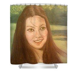 Lynne Frederick  Shower Curtain