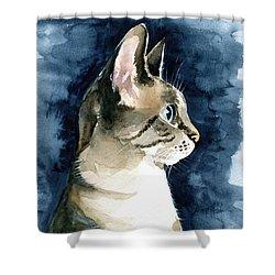 Lynx Point Cat Portrait Shower Curtain