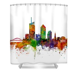 Lyon Skyline Cityscape France Shower Curtain