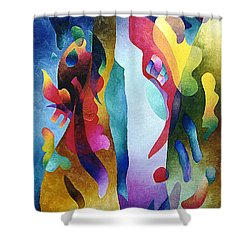 Lyrical Grouping Shower Curtain by Sally Trace
