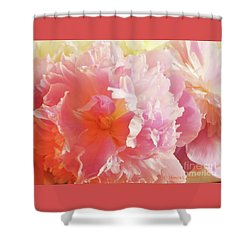 M Shades Of Pink Flowers Collection No. P74 Shower Curtain