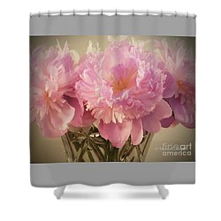 M Shades Of Pink Flowers Collection No. P75 Shower Curtain