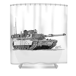 M1a1 Battalion Commander Tank Shower Curtain