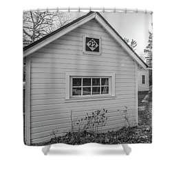 M22 Shed Shower Curtain