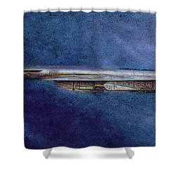 Shower Curtain featuring the painting M50 Myasishchev  by Michael Cleere