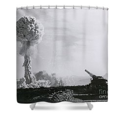 M65 Atomic Cannon Shower Curtain by Science Source