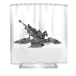 M777a1 Howitzer Shower Curtain