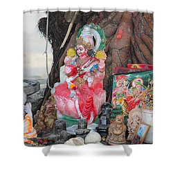 Ma Durga Tree Temple, Haridwar Shower Curtain by Jennifer Mazzucco