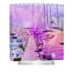 Marina In The Morning Glow Shower Curtain
