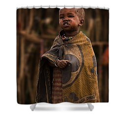 Maasai Boy Shower Curtain by Adam Romanowicz