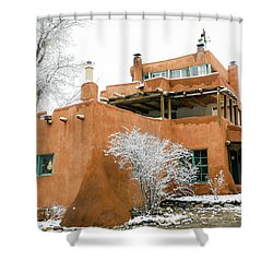 Shower Curtain featuring the photograph Mabel Luhan Dodge House 1 by Marilyn Hunt