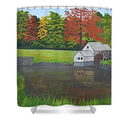 Mabry Grist Mill  Shower Curtain by Ruth  Housley