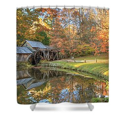 Mabry Mill. Blue Ridge Parkway Shower Curtain by Doug McPherson