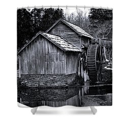 Mabry Mill Bw Light Snow Shower Curtain