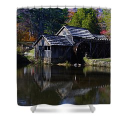 Shower Curtain featuring the photograph Mabrys Mill On The Blue Ridge by B Wayne Mullins
