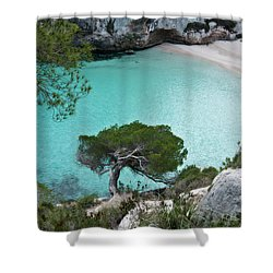 Macarelleta Turquoise Jewell By Pedro Cardona Shower Curtain