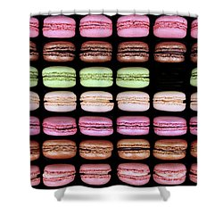 Shower Curtain featuring the photograph Macarons - One Missing by Nikolyn McDonald