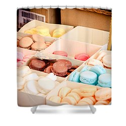 Shower Curtain featuring the photograph Macaroooons by Jason Smith