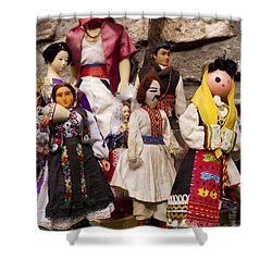 Macedonian Dolls Shower Curtain by Rae Tucker