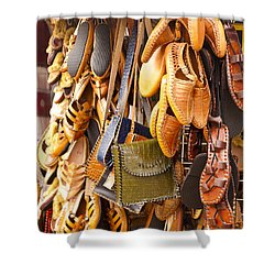 Macedonian Shoes Shower Curtain by Rae Tucker