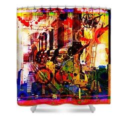 Machine Age-1 Shower Curtain by Gary Grayson