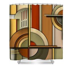 Machine Age Shower Curtain