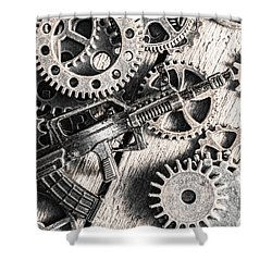 Machines Of Military Precision  Shower Curtain