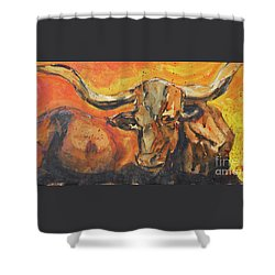 Macho Longhorn Shower Curtain