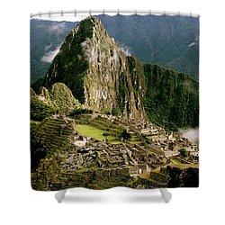 Machu Picchu At Sunrise Shower Curtain