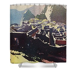 Machu Picchu Morning Shower Curtain