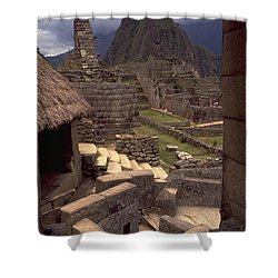 Shower Curtain featuring the photograph Machu Picchu by Travel Pics