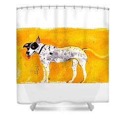 Mack The Pit/dalmatian Shower Curtain