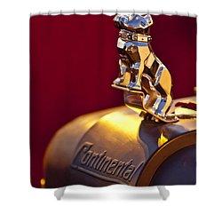 Mack Truck Hood Ornament Shower Curtain by Jill Reger