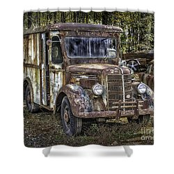 Very Old Mack Truck Shower Curtain