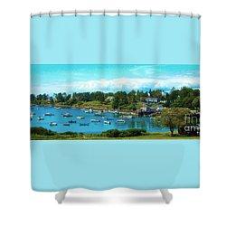 Mackerel Cove On Bailey Island Shower Curtain