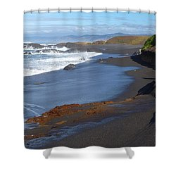 Mackerricher Beach Coastline Shower Curtain