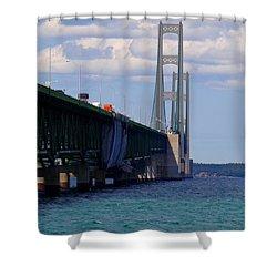 Mackinac Bridge At Sixty Eight Shower Curtain