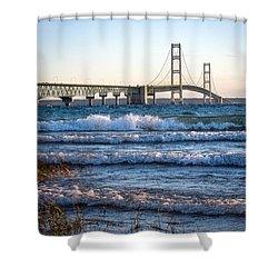Mackinac Bridge Michigan Shower Curtain